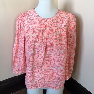 Madewell Coral ivory 100% silk blouse M
